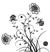 Black Flower Motif